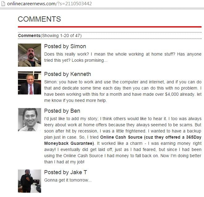 Podvodný web a komentár