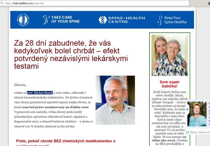 podvodné stránky, lekársky portál TANERAL pro, liek na chrbticu