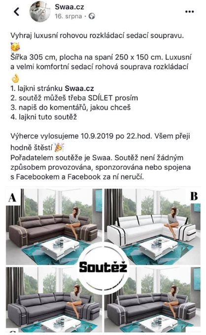 SWAA cz falošné stránky na facebooku