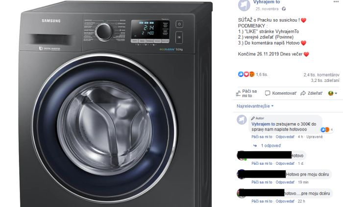 Samsung práčka a súťaž Vyhrajem to