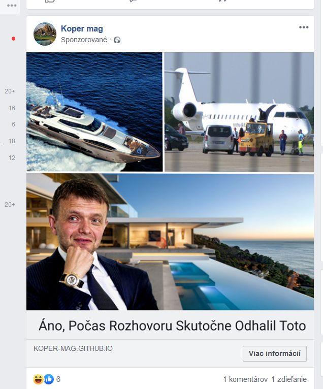 Bitcoin Pro internetový podvod Jaroslav Haščák Facebook reklama