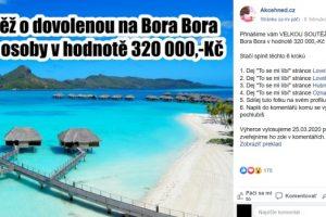 Bora Bora podvodná súťaž