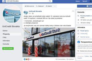 Unicredit Bank podvodná súťaž