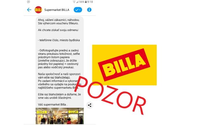 Billa podvodníci, falošné poukážky