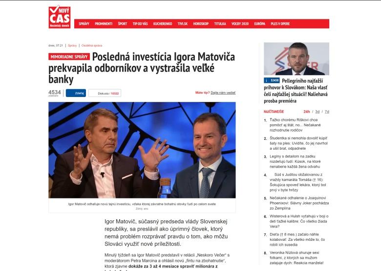 Matovič Igor, podvod s bitcoinom