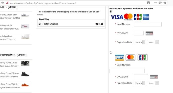Baneba platobná karta priamo v objednávka, nemysliteľné
