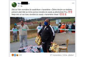 Rómovia Žehra, hoax alkohol za štátne