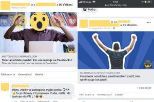 facebook, sledovanie kto si pozerá moj profil je fejk