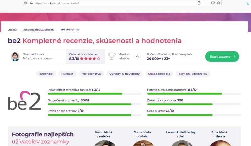 Lovino recenzie Eliska Kolarova