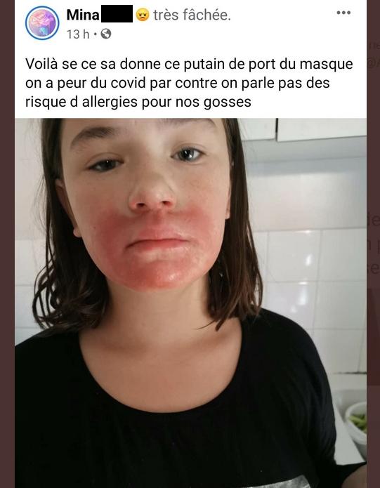 Fake hoax rúška na facebooku