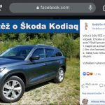 podvodná súťaž o Škodu Kodiaq na stránke Babiččin receptář