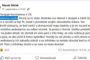 Korona HOAX, príspevok z ČR