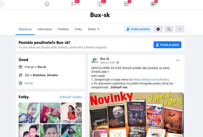 Pozor na falošné osobné profily s menom Bux-sk