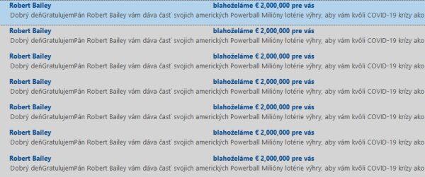 Robert Bailey spam