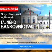 Tajné bankovníctvo podvod
