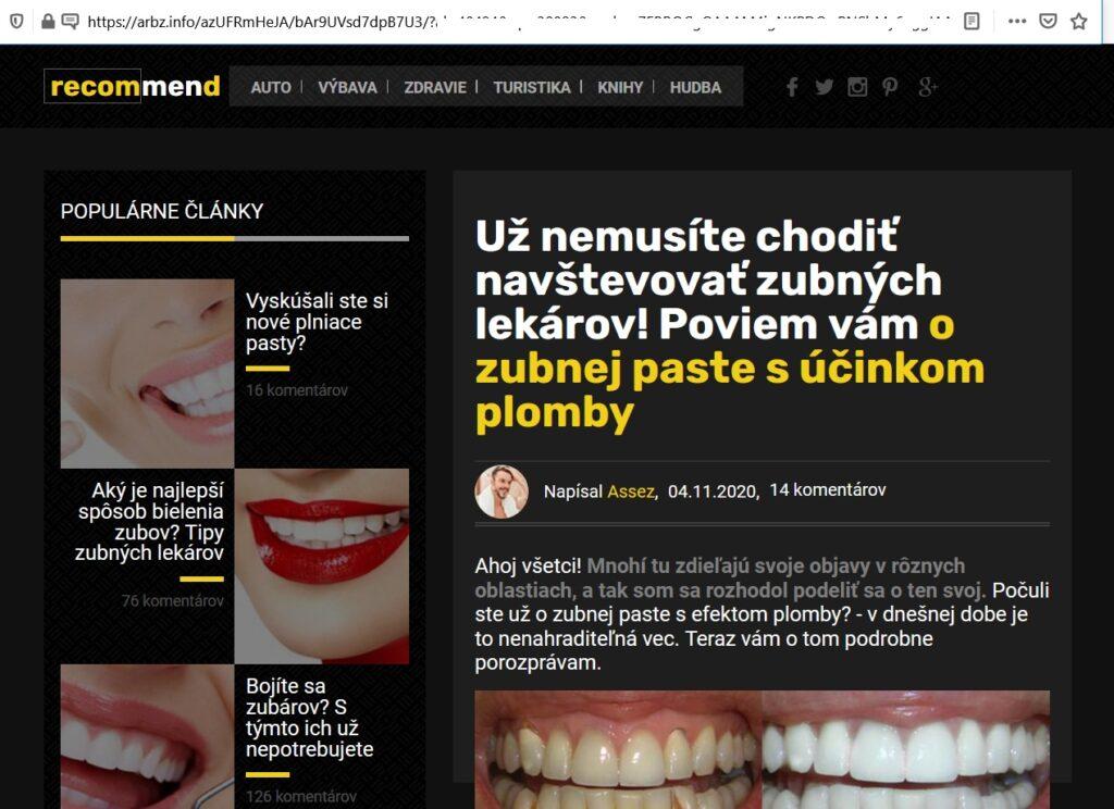 Denta Seal šmejd zubná pasta, podvodný magazín, lekár aj spam