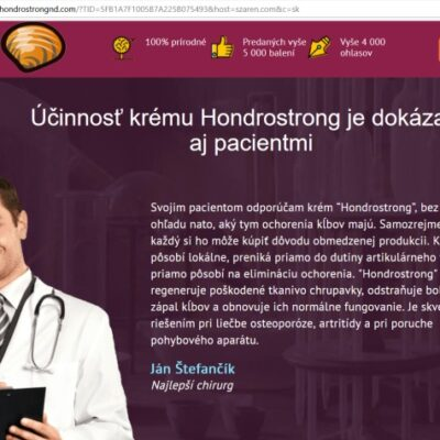 Hondrostrong falošný lekár Ján Štefančík