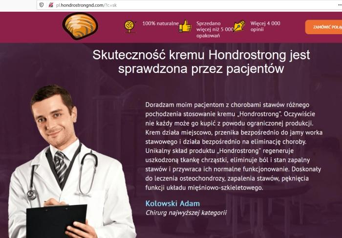 Hondrostrong a Adam Kolowski, fejkovy lekár