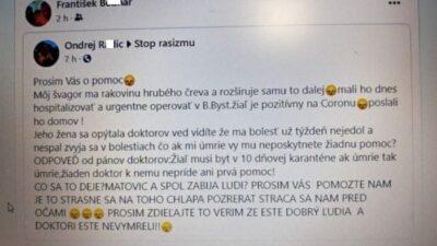 Môj švagor hoax koronavírus
