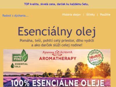 Esenciálne oleje a spam z Liptovskej Lúžnej