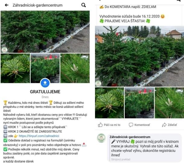 Falošná stránka zahradnicigardencentrumFalošná stránka zahradnicigardencentrum