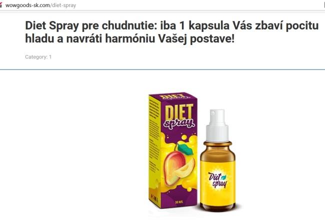 Diet spray, sprej na chudnutie a harmóniu, pozor