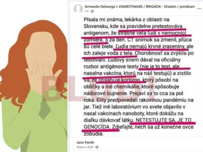 hoax o testovaní, vakcinácii a iné bludy o korone
