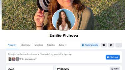 Emilie Píchová, podvodný fake účet
