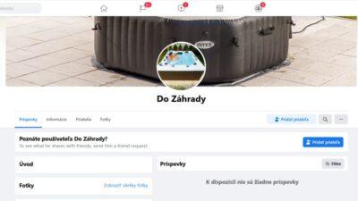 Do záhrady,podvodná facebook stránka / profil a vyhrajem to podvod