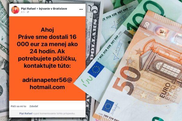 Pôžičky, Facebook
