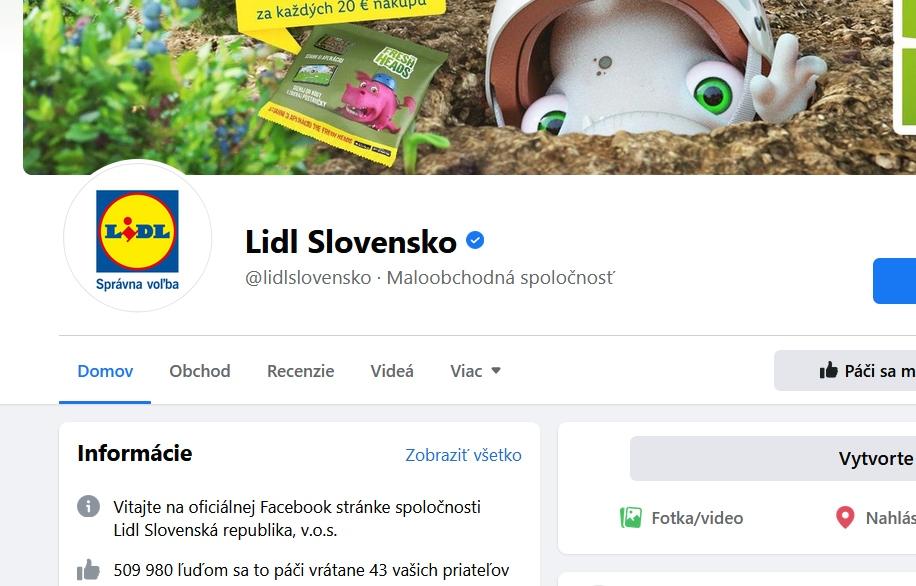 Skutočný originálny nefalšovaný LIDL na Facebooku spoznáte ľahko