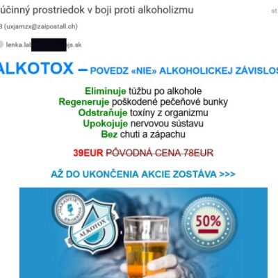 Alkotox email spam