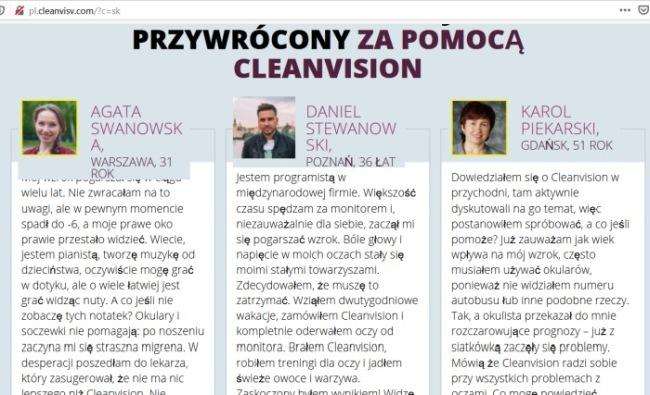 Oculax CleanVision. názory falošných zákazníkov