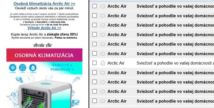 Arctic Ait spam