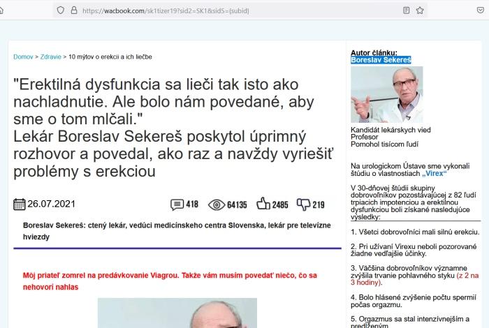 Boreslav Sekereš a Virex, šmejd