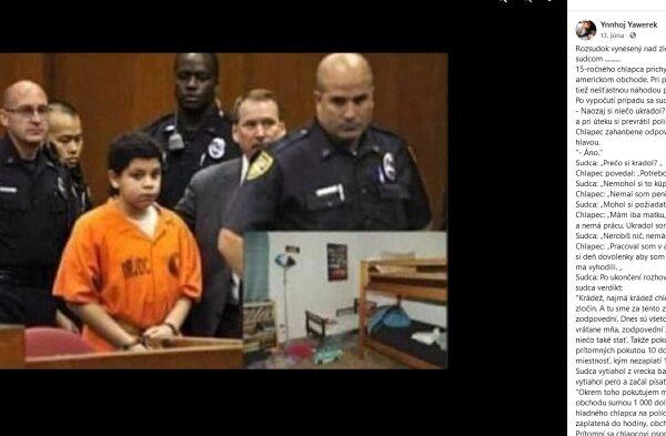 Chlapec odsúdený za krádež, pritom za vraždu