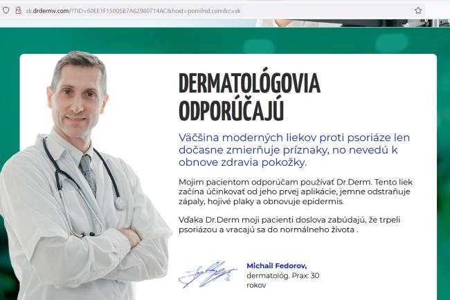 spam, falošní lekári a podvod s Dr.Derm