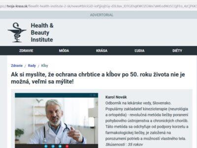 Flexa Fit podvodníci a choré kĺby, lekár Karol Novák