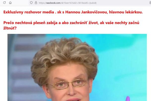 Keraderm podvodníci a Hanna Jankovičová