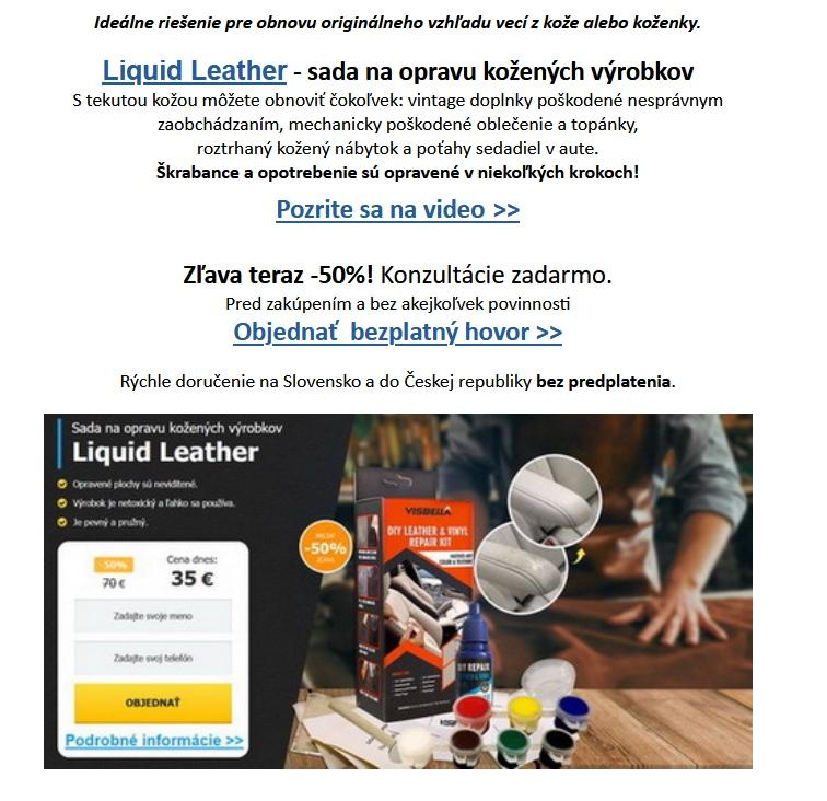 Liquid Leather spam, oprava kože set