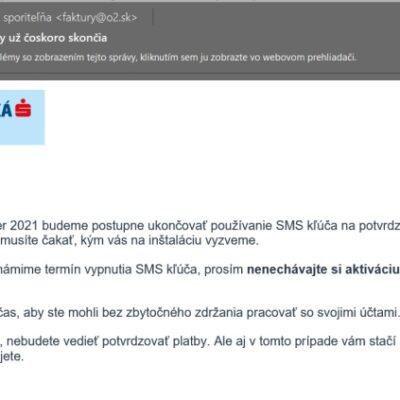 Slovenská sporiteľna, vraj rušia SMS správy, pishing