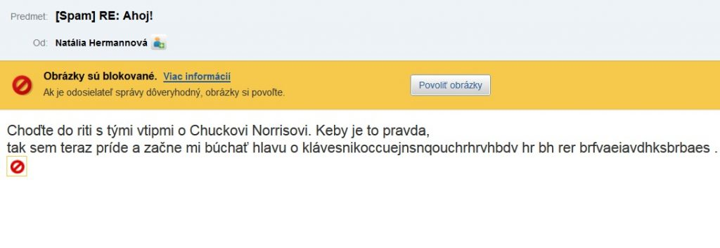 Ahoj spam Chuck Norris