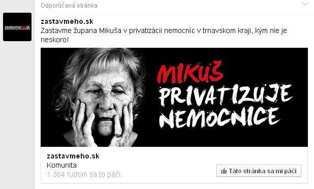Antikampaň Trnava župan Mikuš