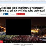 Manipulácia Nového času? Barcelona protestuje za prijatie utečencov + výzva