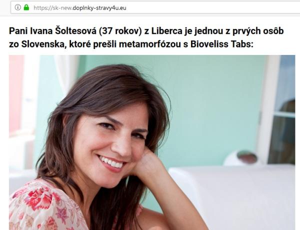 Bioveliss Ivana Šoltésová z Liberca