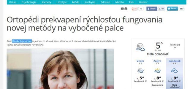 Hallu Forte a vymyslená pani Blanka Mlynárová na Healthylegsnow.eu
