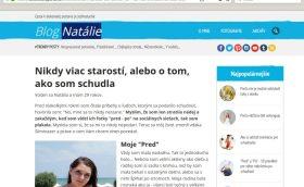 Blog Natálie, reklama na centrum.sk a Sliminazer na chudnutie