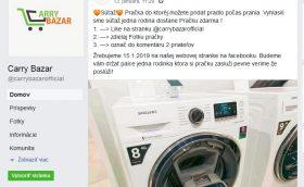 carry bazar podvodná stránka na facebooku