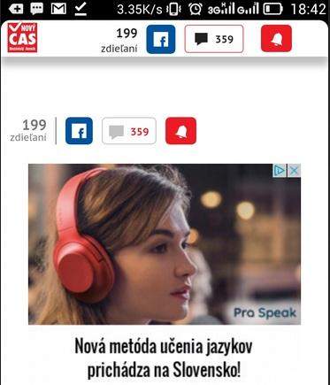 Pro Speak polyglot Cas.sk reklama