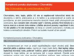 Chorvátsko spam